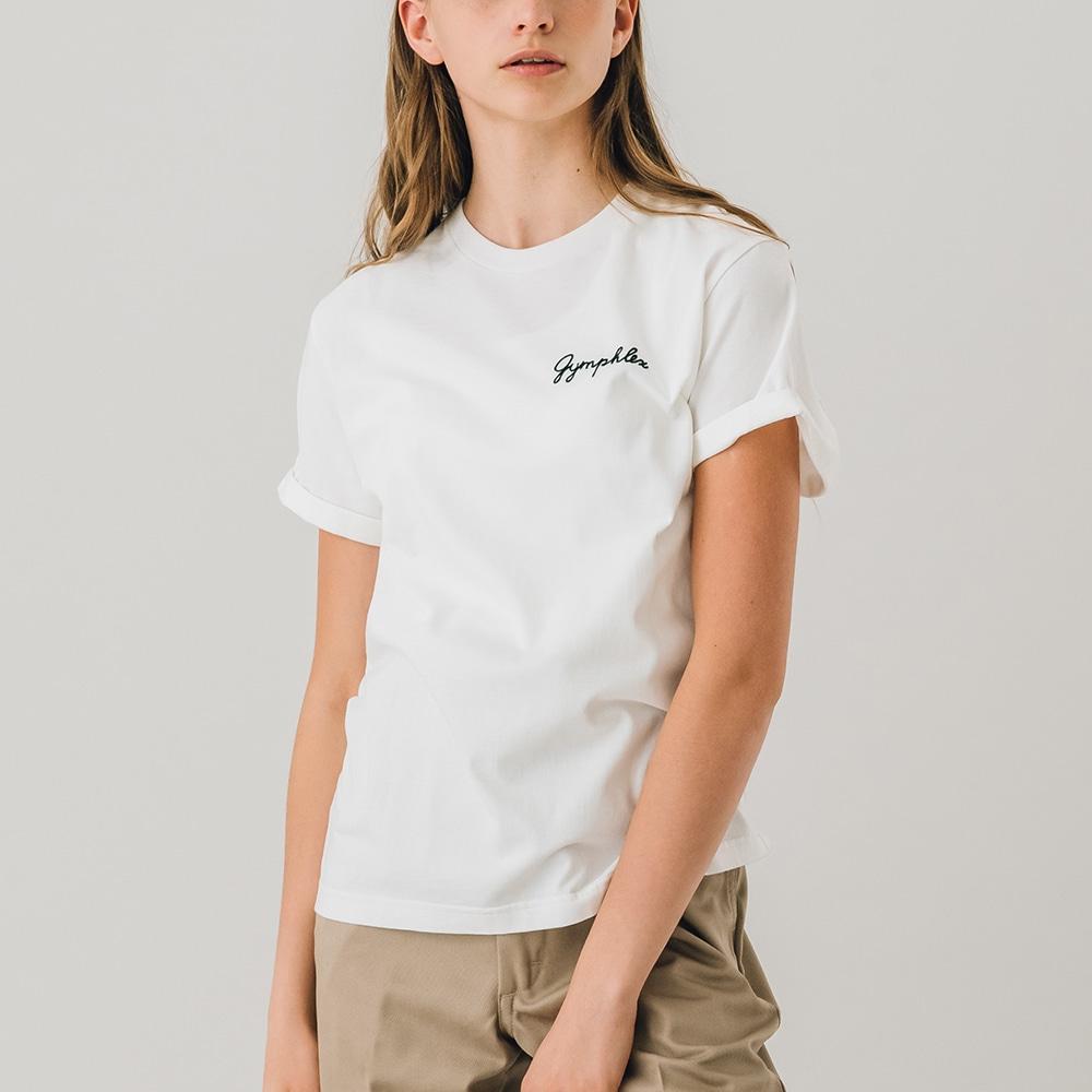 クルーネック 刺繍ロゴTシャツ WOMEN