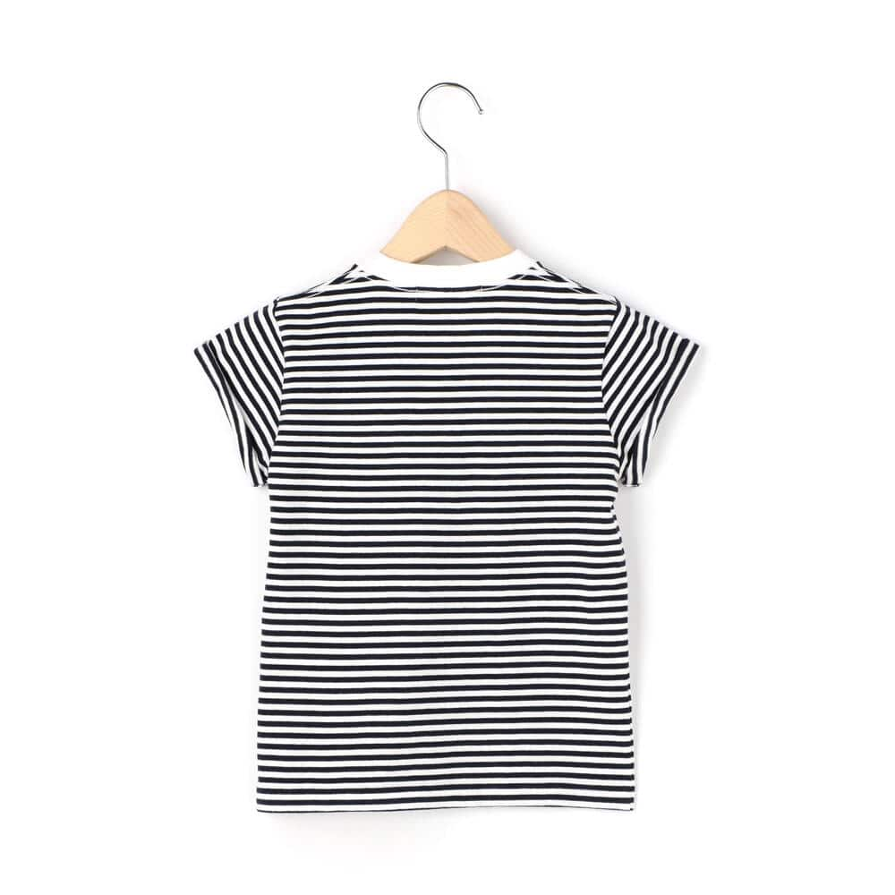 キッズ 刺繍ロゴTシャツ STRIPE