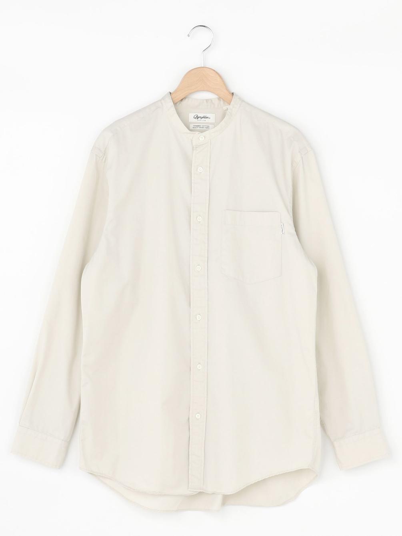 【OUTLET】コットンツイル バンドカラーシャツ VTW MEN