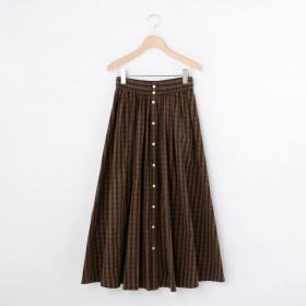 チェックギャザースカート NTS WOMEN