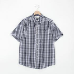 半袖ボタンダウンシャツ GINGHAM MEN