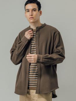 フリースバンドカラーシャツ MEN