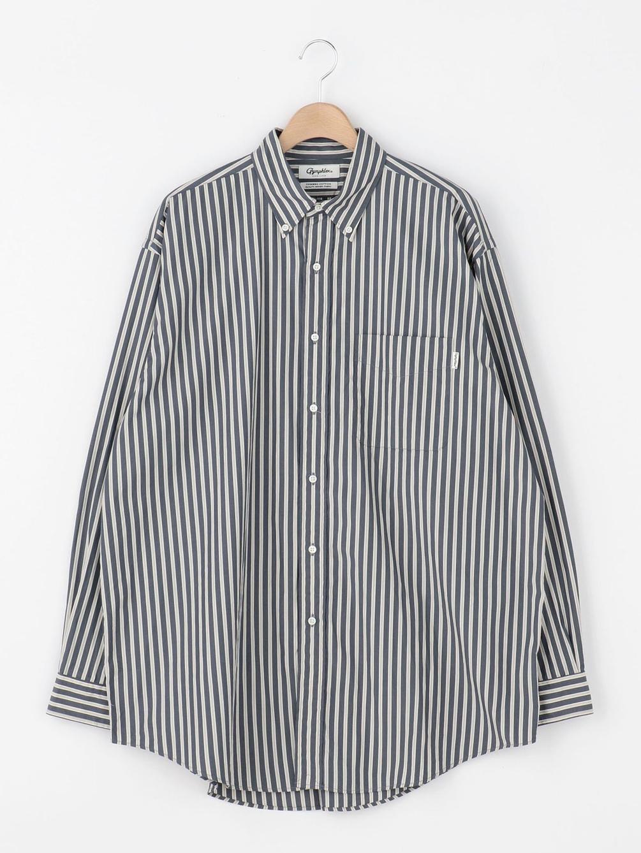 【OUTLET】マルチストライプ ビッグボタンダウンシャツ MUP MEN