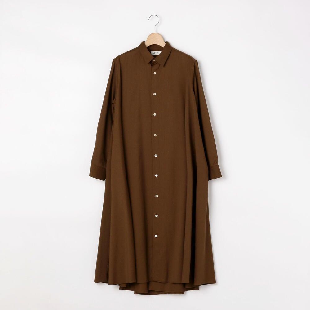 ストレッチツイル フレアシャツドレス WOMEN