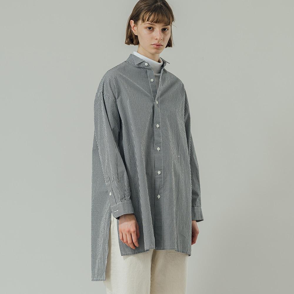 ギンガムチェック ウィングカラーシャツ WOMEN