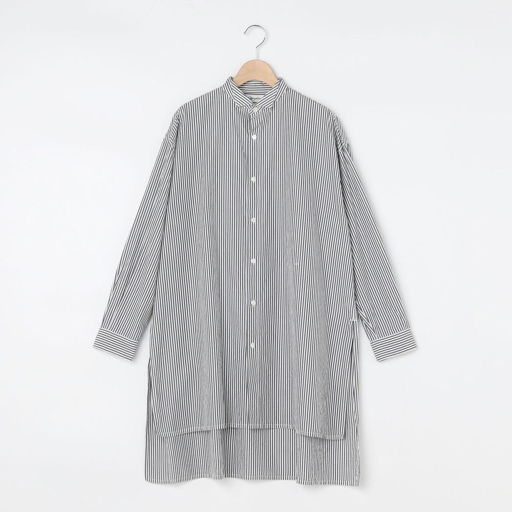 【OUTLET】ストライプ ウィングカラーシャツ WOMEN
