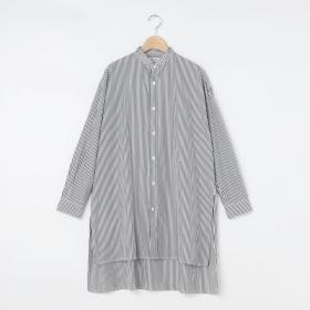ストライプ ウィングカラーシャツ WOMEN