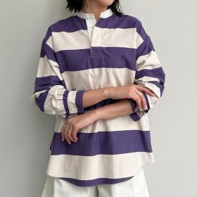 ツイルストライプラガーシャツ WOMEN