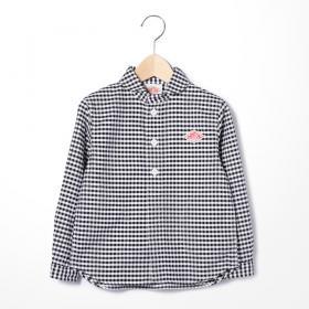 キッズ 長袖丸襟シャツ