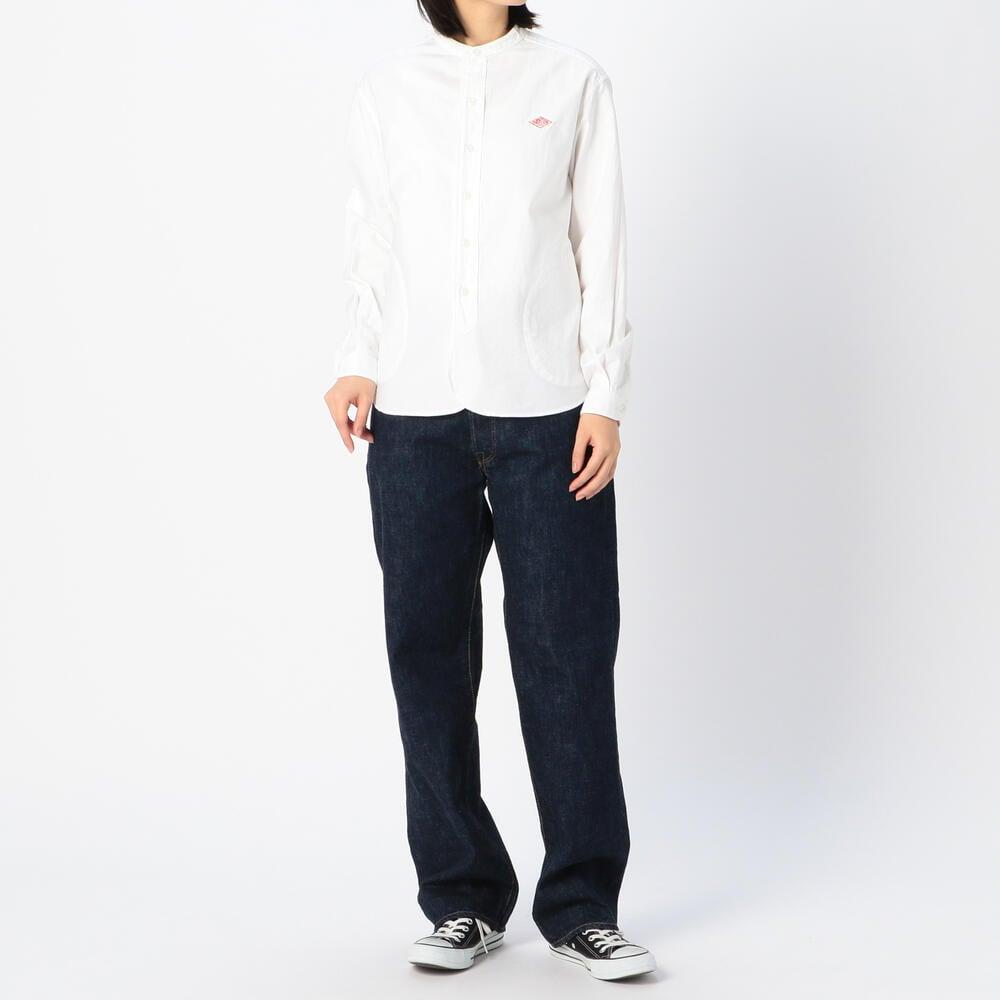 長袖バンドカラーシャツ YOX WOMEN