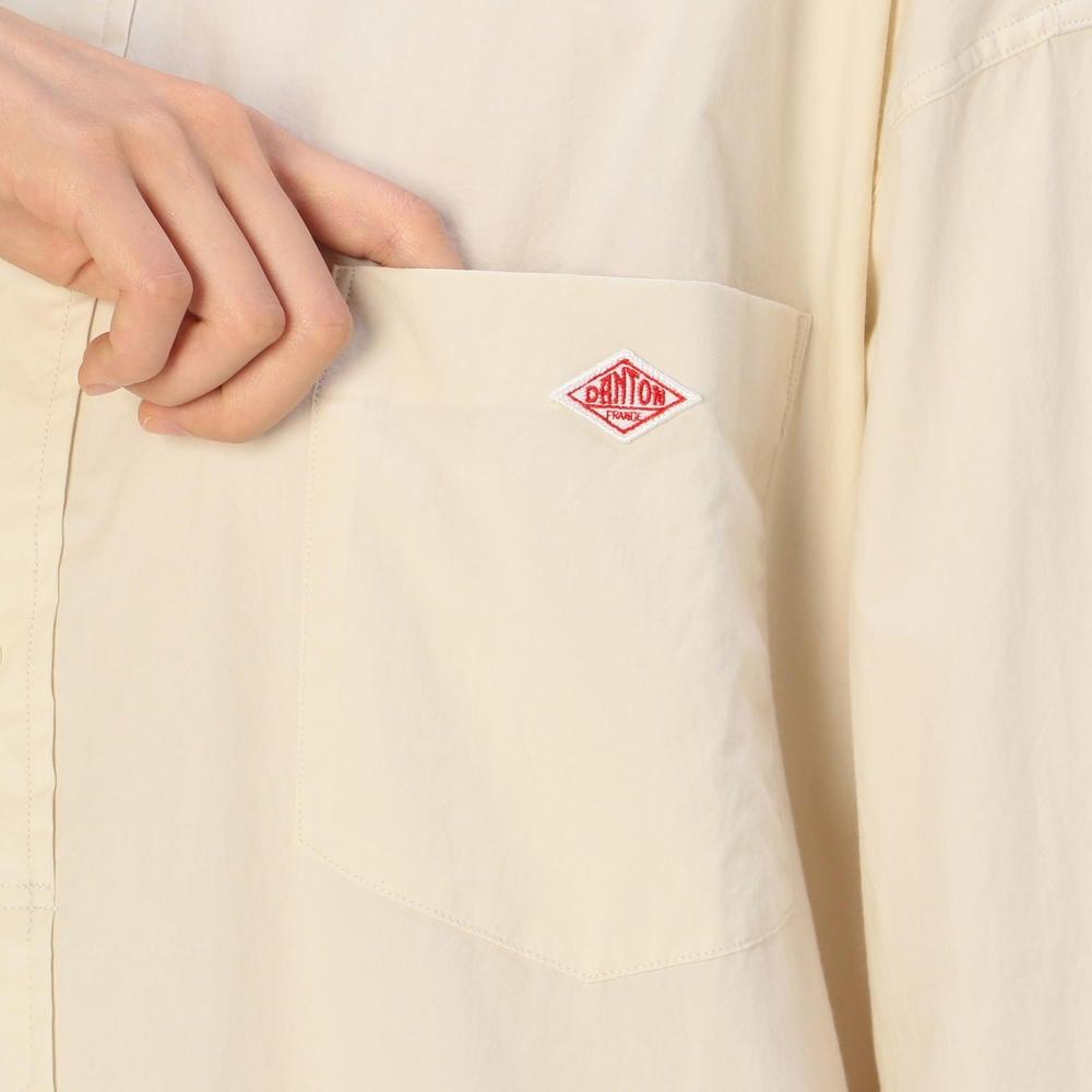 タイプライターバンドカラーシャツワンピース TYO WOMEN
