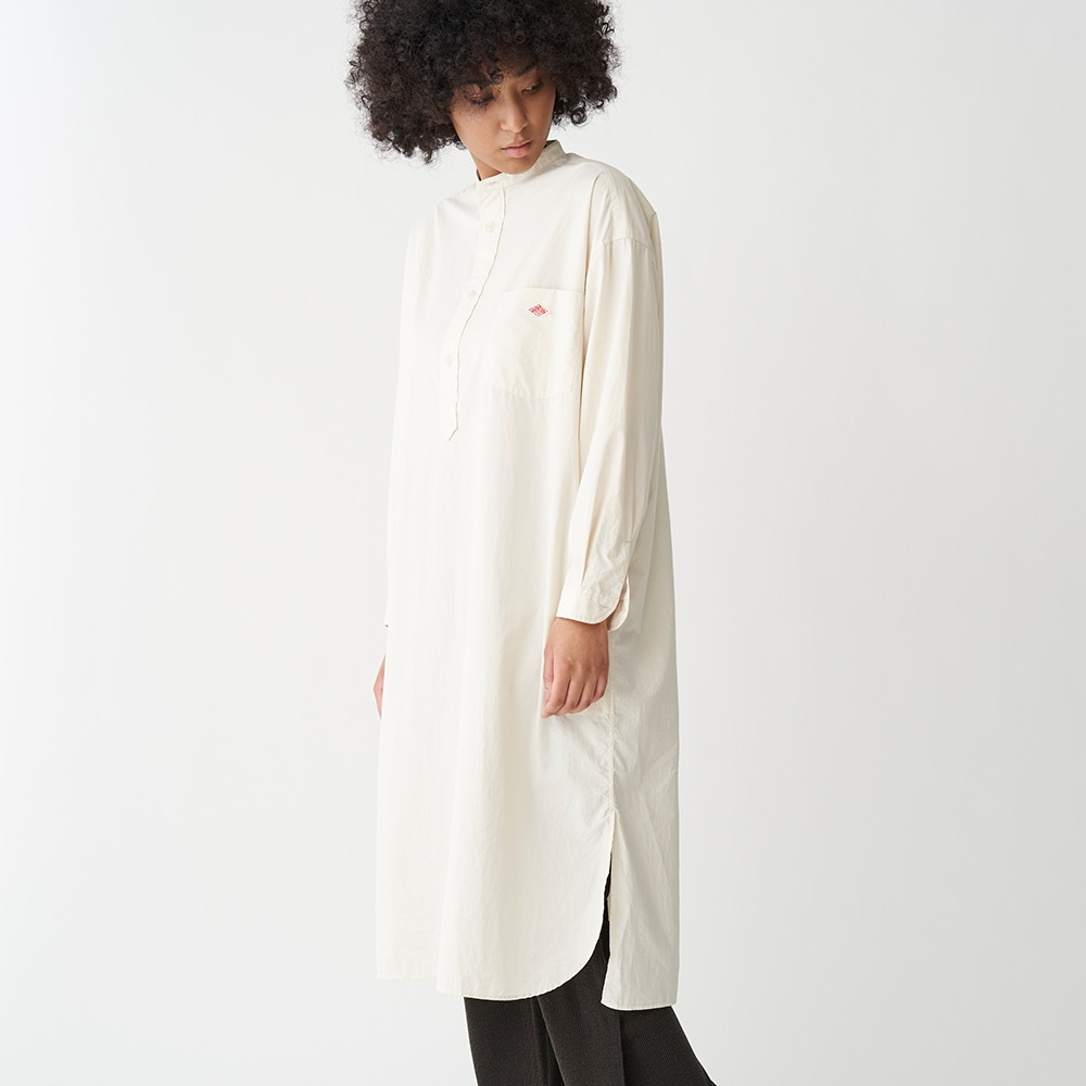 【OUTLET】タイプライターバンドカラーシャツワンピース TYO WOMEN