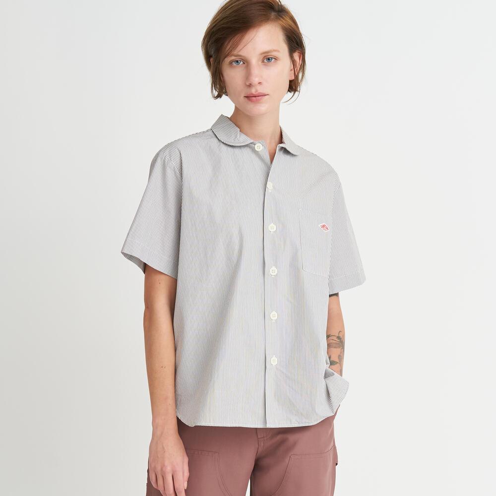 半袖丸襟ワークシャツ MTP WOMEN