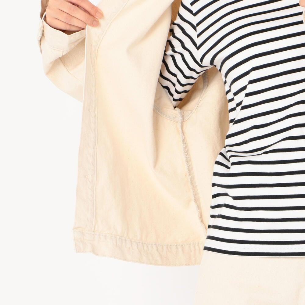 【OUTLET】カツラギノーカラージャケット MHT WOMEN