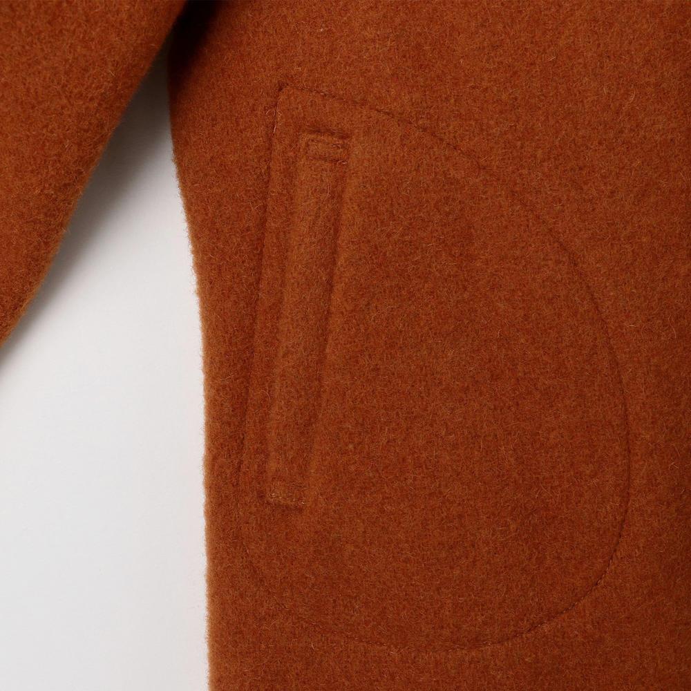 キッズ ウールモッサ シングルフードジャケット