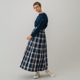 プリーツマキシスカート DTB WOMEN