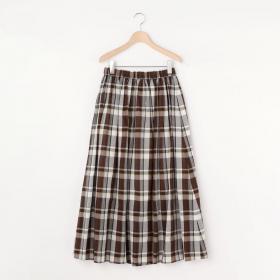 ギャザースカート CHECK WOMEN