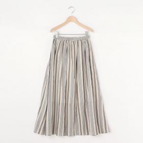 ギャザースカート STRIPE WOMEN