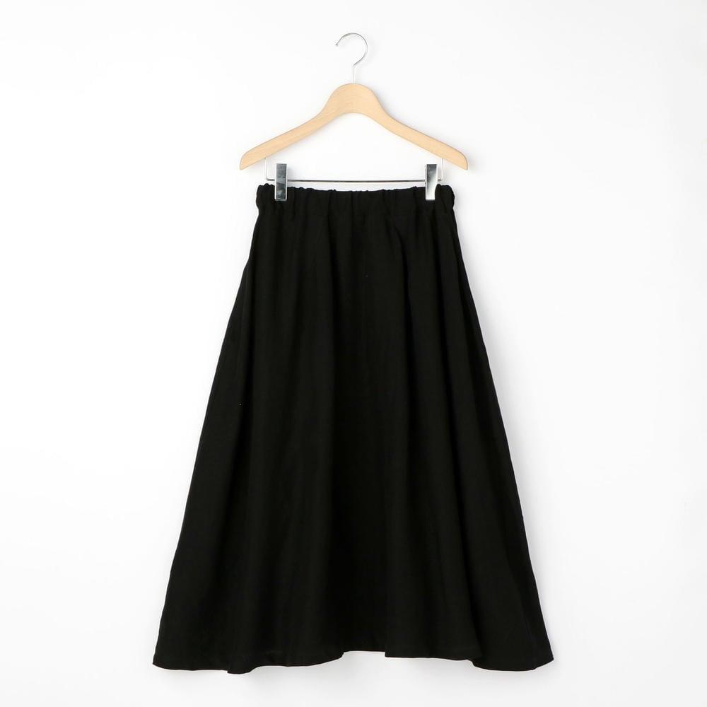 リネンフレアスカート BLACK WOMEN