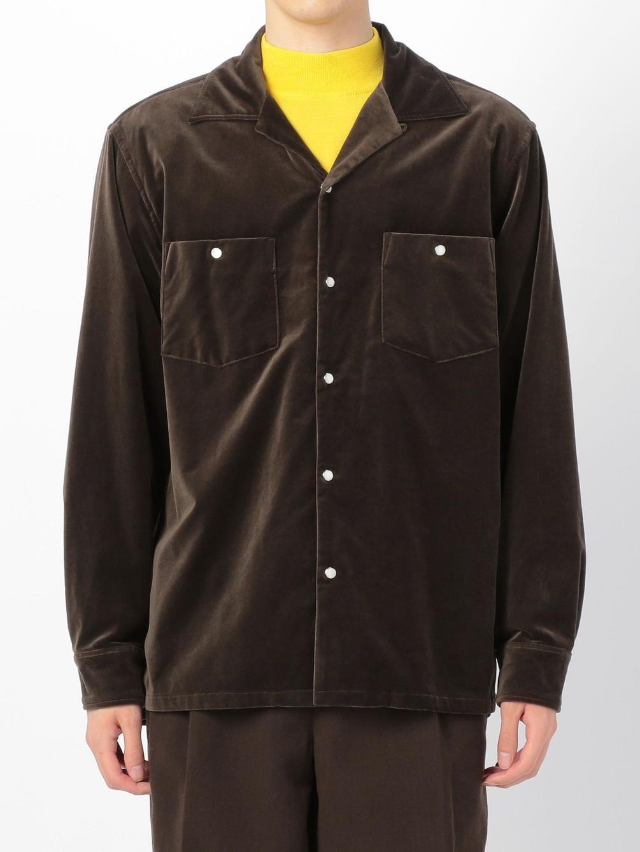ベルベット オープンカラーシャツ MEN