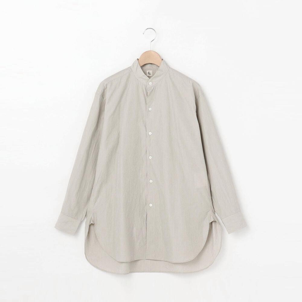 【OUTLET】コットンシルク スタンドカラーシャツ WOMEN