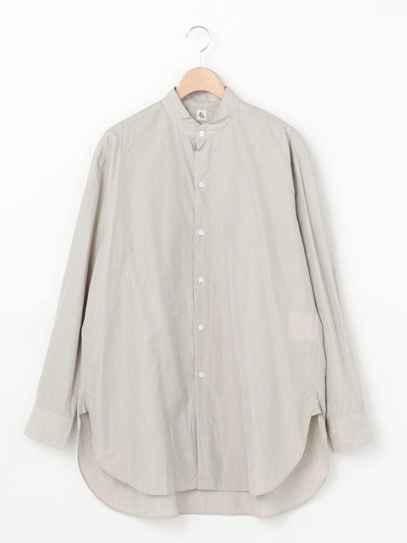 【OUTLET】コットンシルク スタンドカラーシャツ MEN