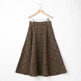 グレンチェック フレアスカート WOMEN