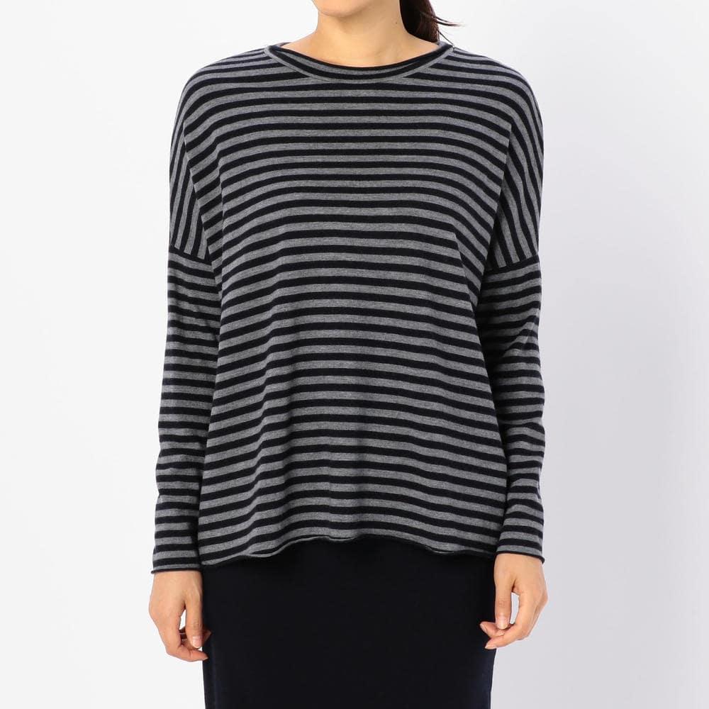 ウールジャージーTシャツ STRIPE WOMEN