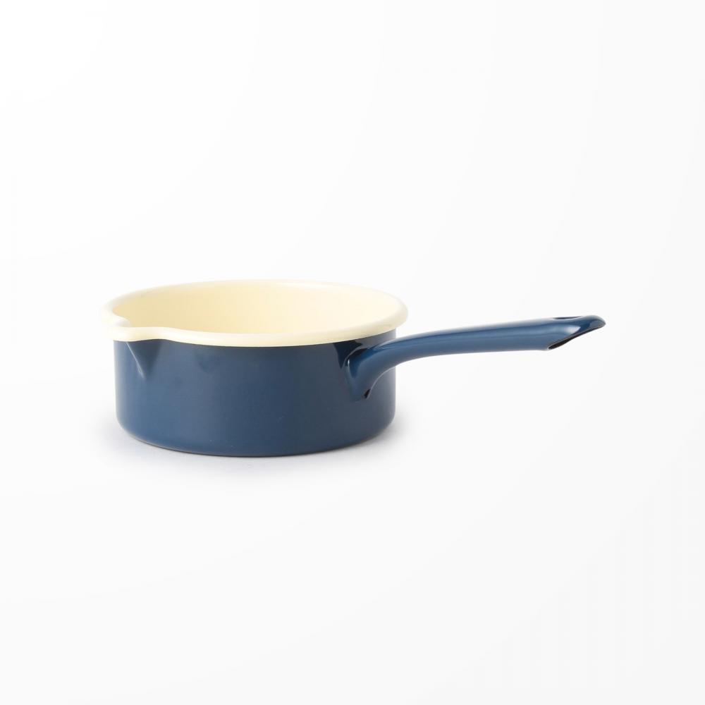 K060 ENAMEL MILK PAN BRETON BLUE/1L