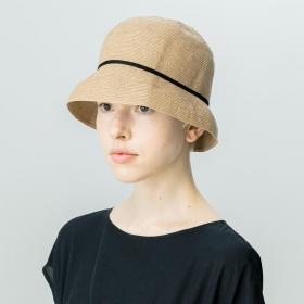 paper braid light hat short WOMEN