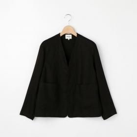 リネンカラーレスジャケット LDA WOMEN