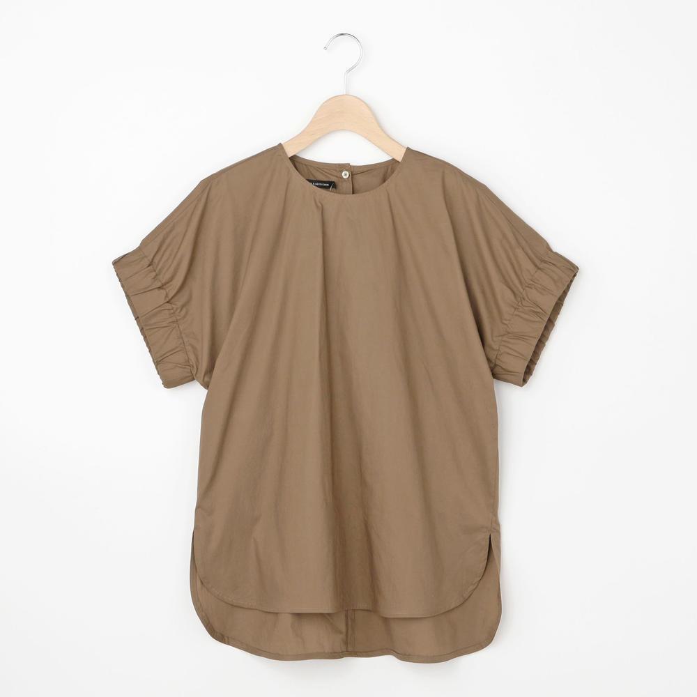 コットンギャザースリーブシャツ WOMEN