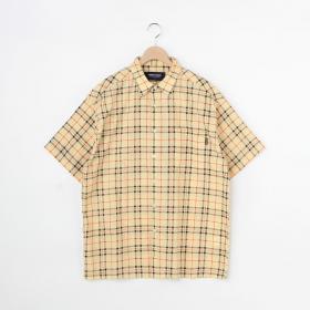 半袖チェックシャツ MEN