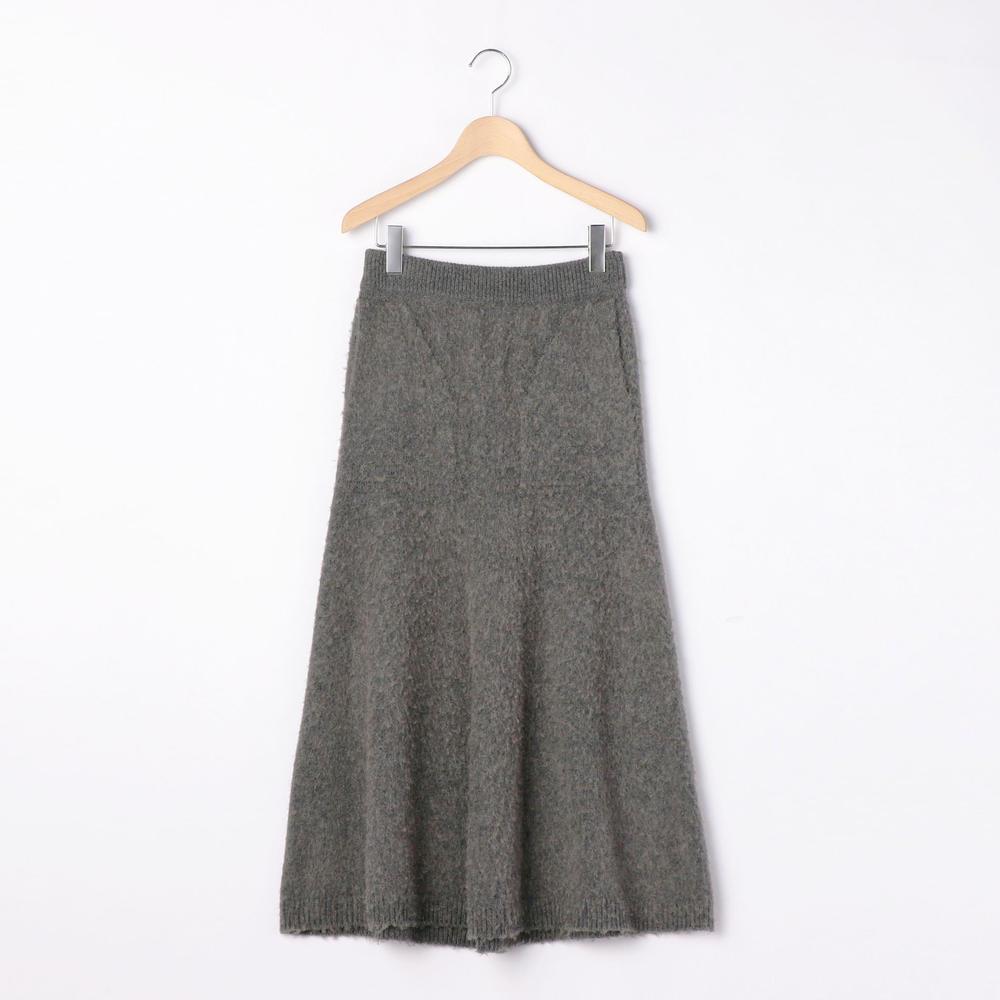 【OUTLET】キャメル ニットスカート WOMEN