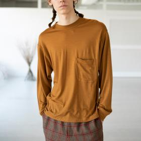 ウールジャージー 長袖Tシャツ MEN