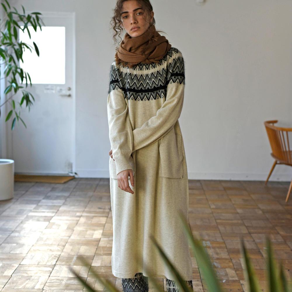 ジーロンラム ジャガードニットドレス WOMEN