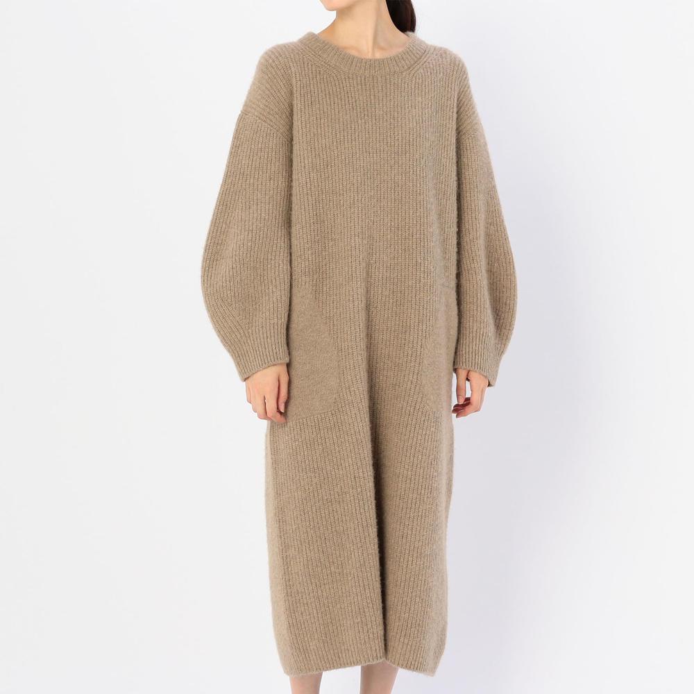 キャメルニットドレス WOMEN