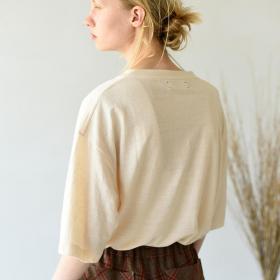 フレンチリネン オーバーサイズTシャツ WOMEN