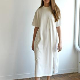 【OUTLET】オーガニックコットンジャージー Tシャツドレス WOMEN