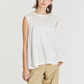 コットンネップジャージー スリーブレスTシャツ WOMEN
