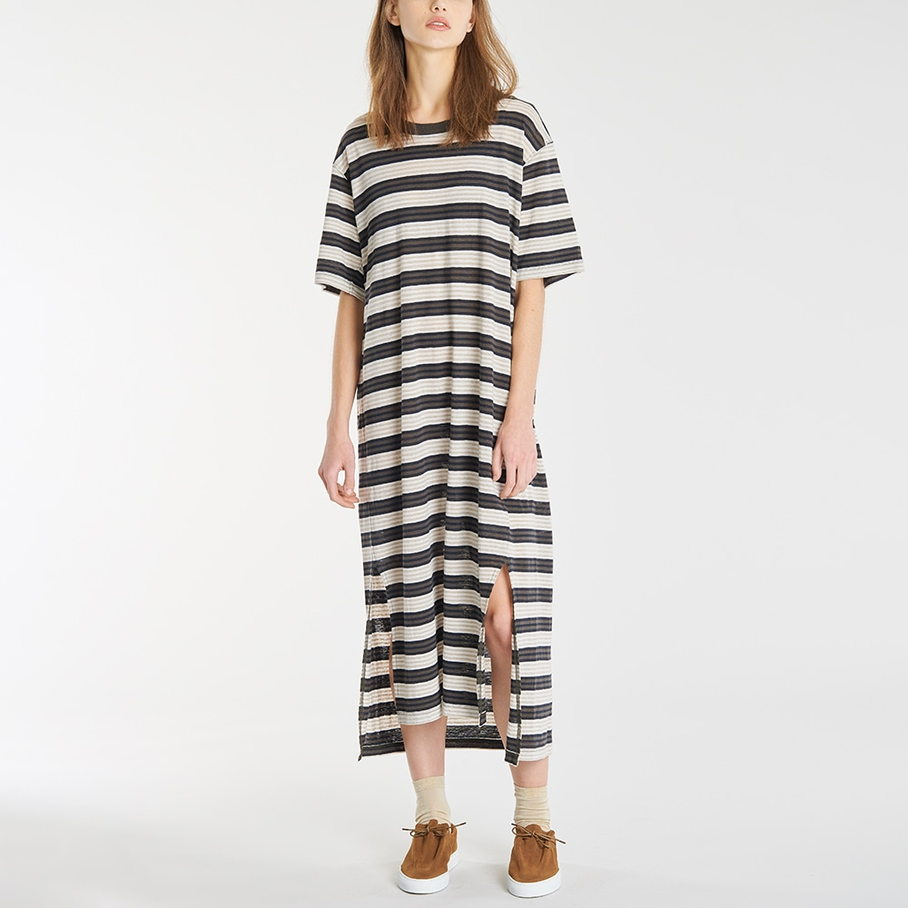 【OUTLET】フレンチリネン Tシャツドレス WOMEN