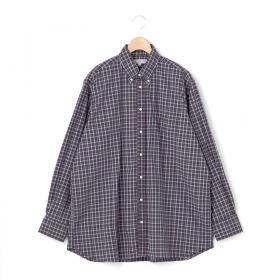 〈別注〉オーバーサイズボタンダウンシャツ NVY-CHK MEN