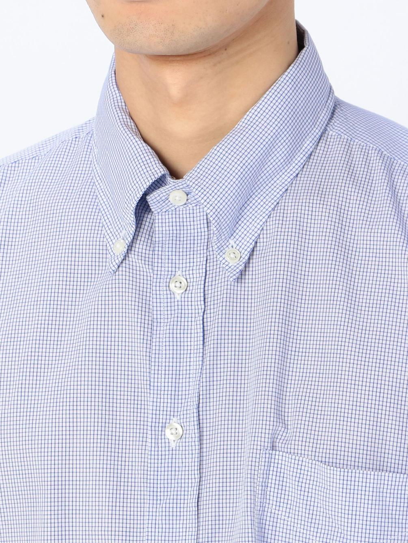 〈別注〉オーバーサイズボタンダウンシャツ BLUE CHK MEN
