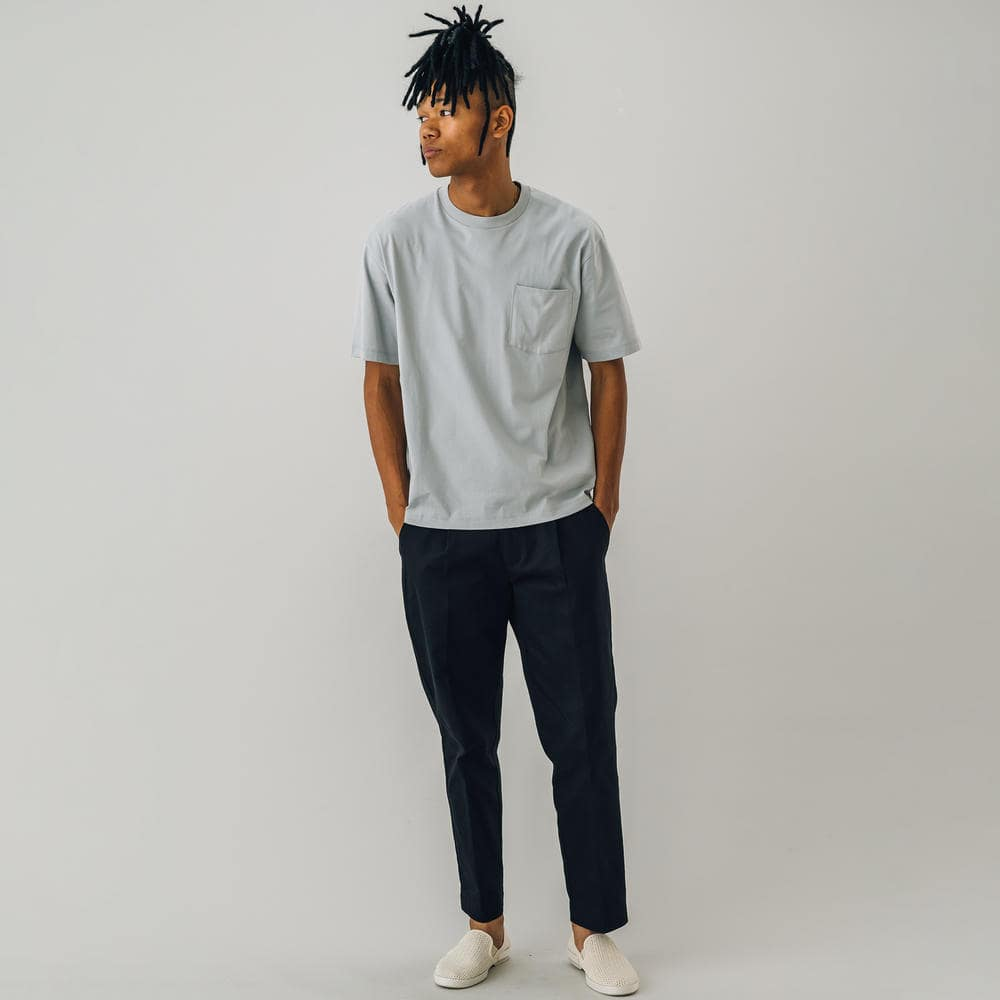 【OUTLET】タックテーパードトラウザー NAVY MEN
