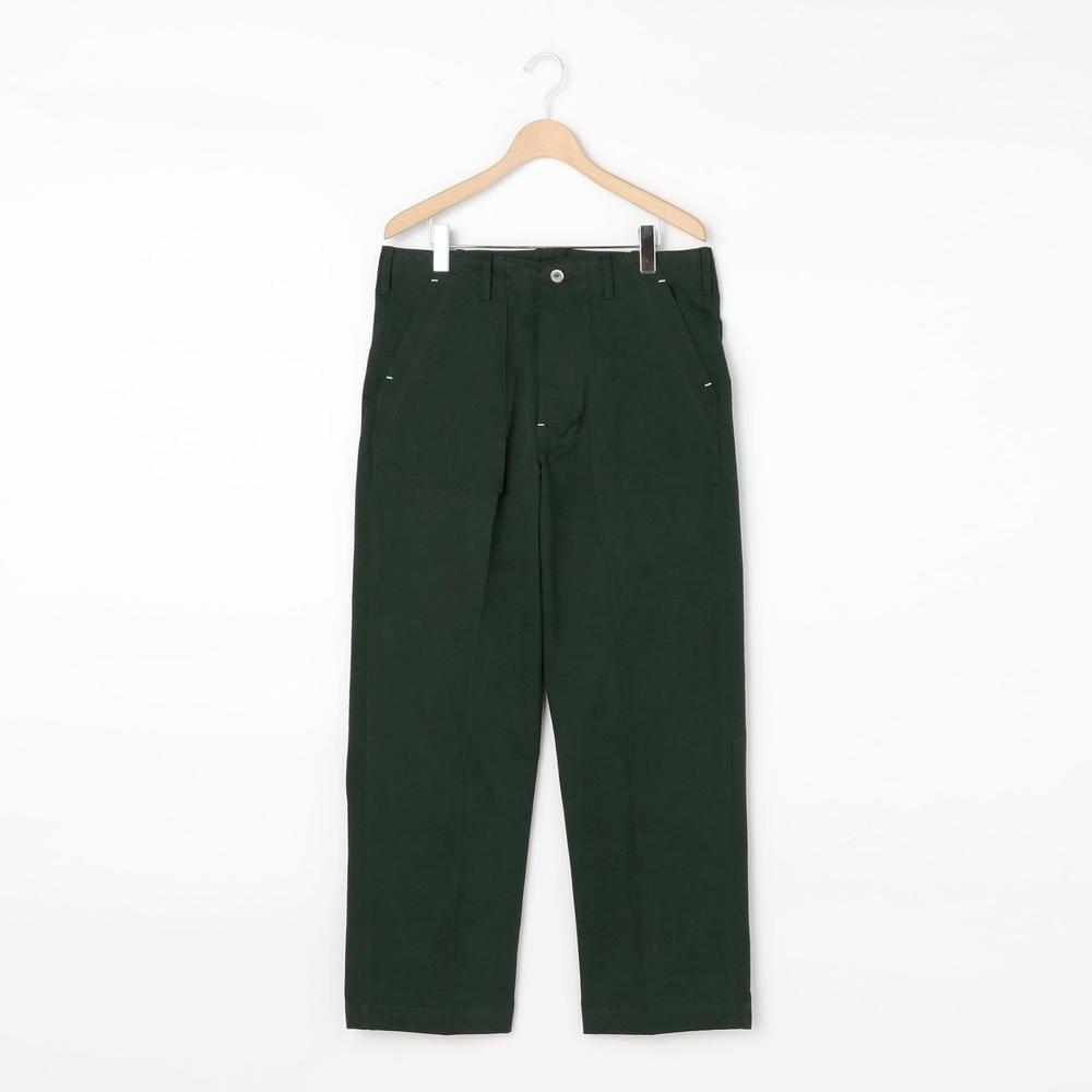 【OUTLET】コットンツイル ファティーグパンツ GREEN MEN