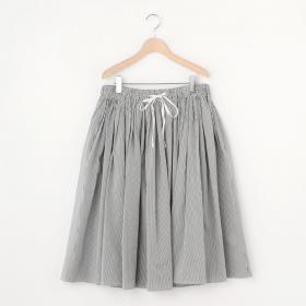 ストライプギャザースカート WOMEN