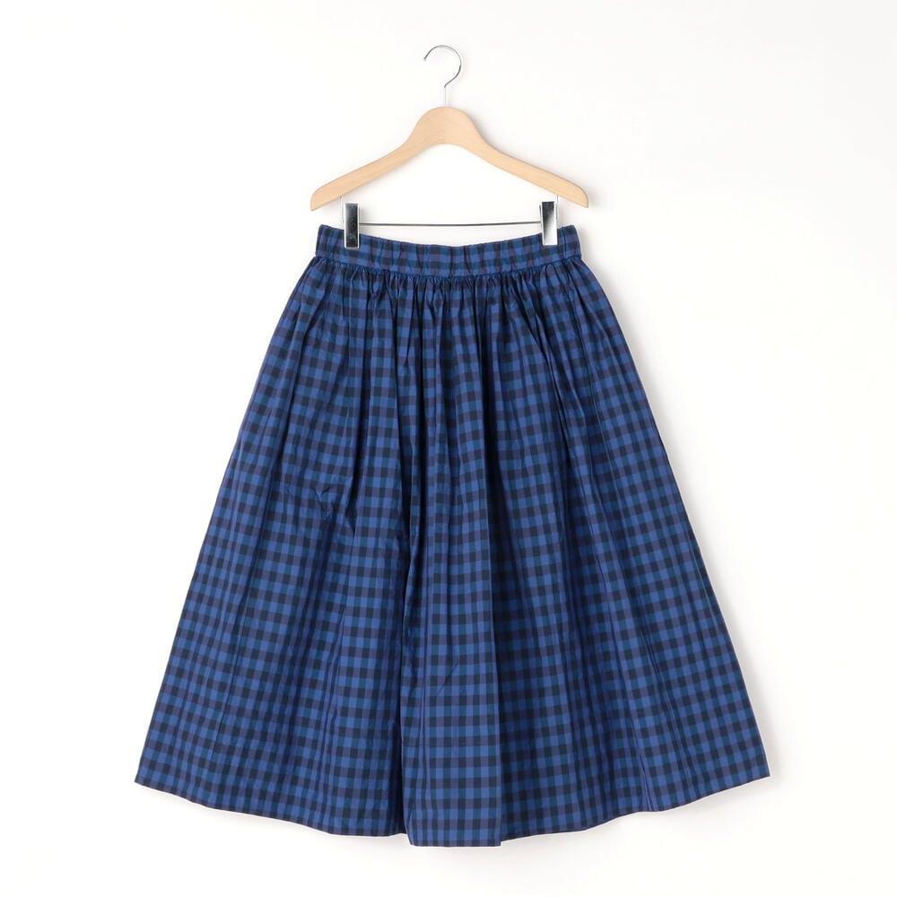 チェックギャザースカート WOMEN