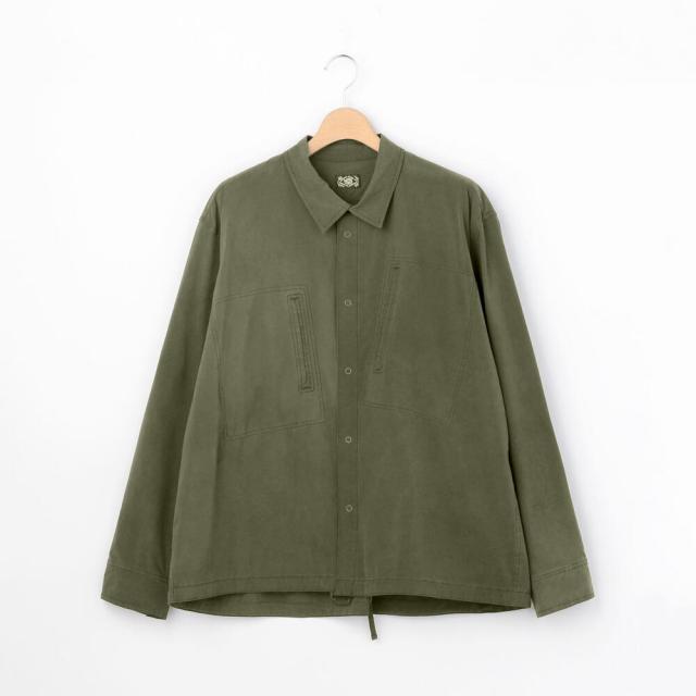 PORTER CLASSIC(ポータークラシック)スーパーナイロン ミリタリーシャツ MEN