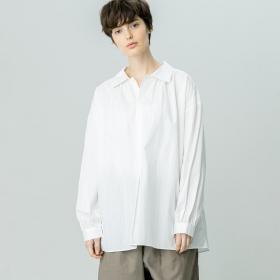 ギャザープルオーバーシャツ WHITE WOMEN