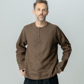 リネンヘンリーネックシャツ MEN
